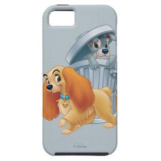 Señora y vagabundo en la basura iPhone 5 carcasa