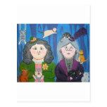 señoras 2 del gato tarjeta postal