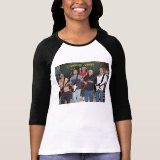Señoras 3/4 camiseta cambiante de los carriles de remeras
