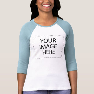 Señoras 3/4 raglán de la manga (cabido): Blanco/az Camisetas