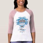 Señoras 3/4 raglán de la manga (cabido) camiseta