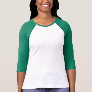 Señoras 3/4 raglán de la manga (cabido), camiseta
