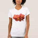 Señoras anaranjadas manchadas de las orquídeas camisetas