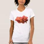 Señoras anaranjadas manchadas de las orquídeas camiseta