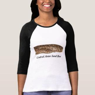 Señoras asiáticas centrales de la boa de la arena  camiseta