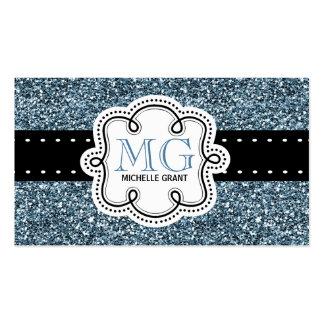 Señoras azules descaradas de la mirada del brillo tarjeta personal