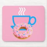 Señoras café y buñuelo alfombrilla de ratones