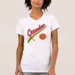 Señoras Camousal de los cruzados Camiseta