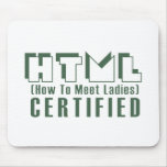 Señoras certificadas HTML Tapete De Ratones