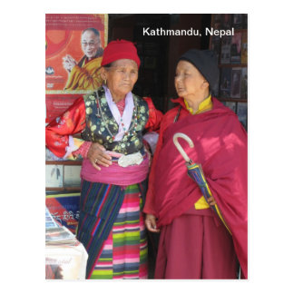 Señoras coloridas en Katmandu Postal