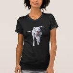 Señoras dálmatas camiseta, idea del perro de perri