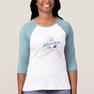Señoras de Alaska 3/4 raglán de la manga Camisetas
