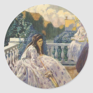 Señoras de Borisov-Musatov-Tres del vencedor en la Pegatina Redonda