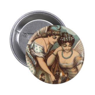 Señoras de hadas del vintage que encienden los cig pin
