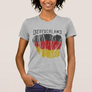 Señoras de la camisa de la bandera de Deutschland