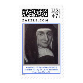 Señoras de la caridad - St. Louise de Marillac Estampilla