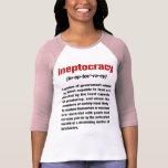 Señoras de la definición de Ineptocracy 3/4 raglán Camiseta