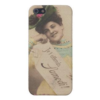 señoras de la foto del vintage iPhone 5 fundas
