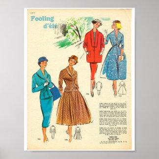 señoras de la mujer elegante de la moda del póster