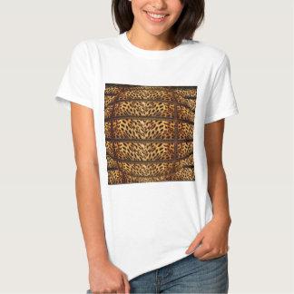 Señoras de la piel del leopardo, mujeres, hombres polera
