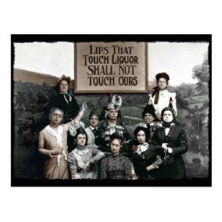 Señoras de la prohibición postales