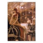 Señoras de los coches (circo) por Tissot, arte del Felicitación