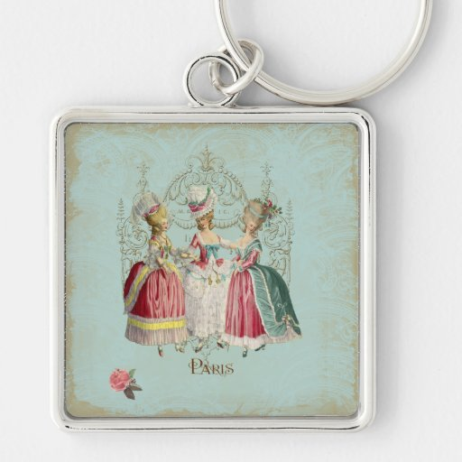Señoras de París del francés de Marie Antonieta Llaveros Personalizados