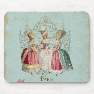Señoras de París del francés de Marie Antonieta Alfombrillas De Raton