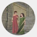 Señoras de Roma Etiqueta Redonda