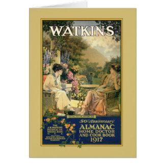 Señoras de Watkins en el jardín Tarjeta De Felicitación
