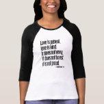 Señoras del 13:4 de 1 Corinthians 3/4 raglán de la Camisetas