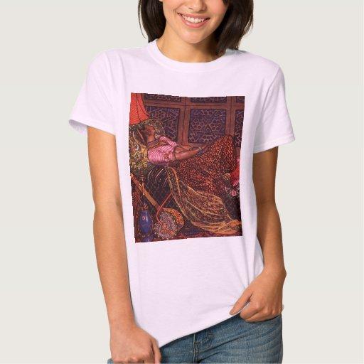 Señoras del arte de la India, top de la camiseta