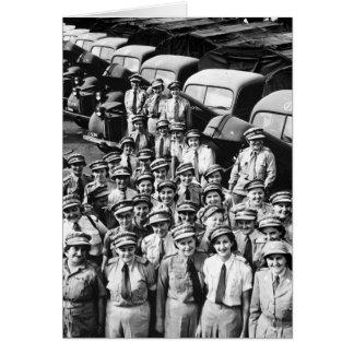 Señoras del camión WW2, los años 40 Tarjeta De Felicitación