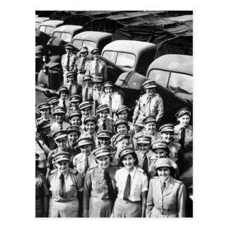 Señoras del camión WW2, los años 40 Tarjetas Postales