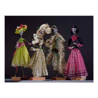 Señoras del día de los muertos, de Oaxaca Póster