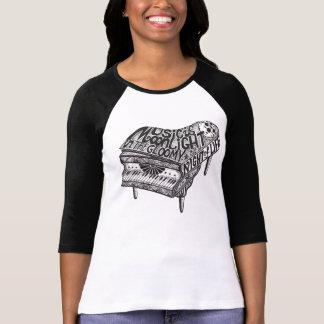 Señoras del ejemplo de la música del piano cabidas camisetas