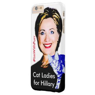 Señoras del gato para el iPhone 6/6s de Hillary Funda De iPhone 6 Plus Barely There