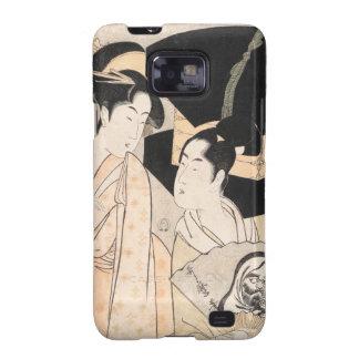 Señoras del japonés de Kitagawa Utamaro del vended Samsung Galaxy SII Carcasas