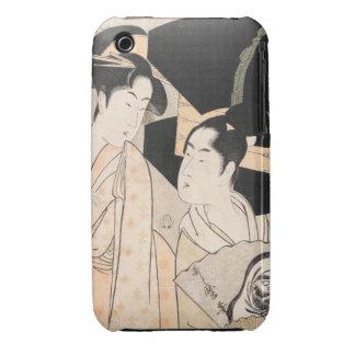 Señoras del japonés de Kitagawa Utamaro del vended iPhone 3 Carcasas