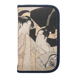 Señoras del japonés de Kitagawa Utamaro del vended Planificador