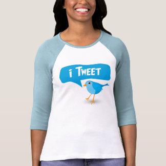 señoras del pájaro del gorjeo del iTweet 3/4 top