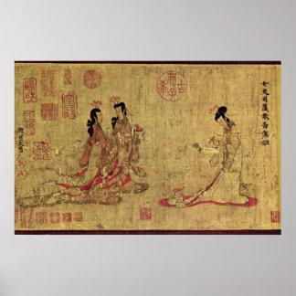 Señoras del palacio de Gu Kaizhi Posters