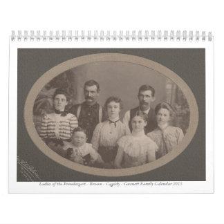 Señoras del Prendergast, Brown, Cassidy, Gurnett Calendario De Pared
