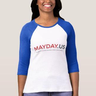 Señoras del PRIMERO DE MAYO 3/4 camisa del raglán