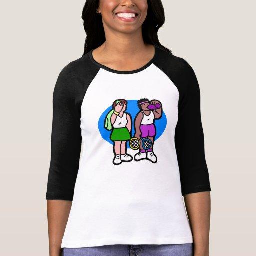 Señoras del tenis camisetas
