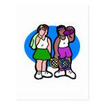 Señoras del tenis postal