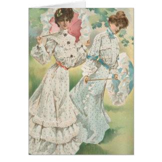 Señoras del Victorian de la primavera Felicitación