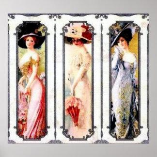 Señoras del Victorian Póster