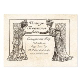 Señoras del Victorian Tarjetas De Visita Grandes