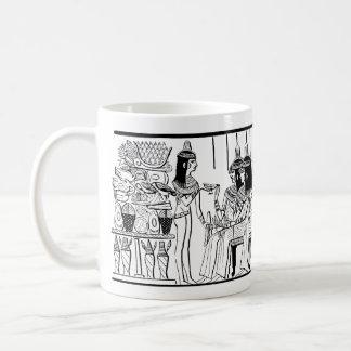 Señoras egipcias 1886 que extraen de la tumba de taza de café